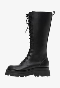 Stradivarius - Šněrovací vysoké boty - black - 1