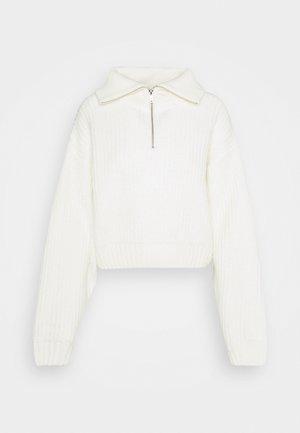 LESLIE - Strikkegenser - warm white