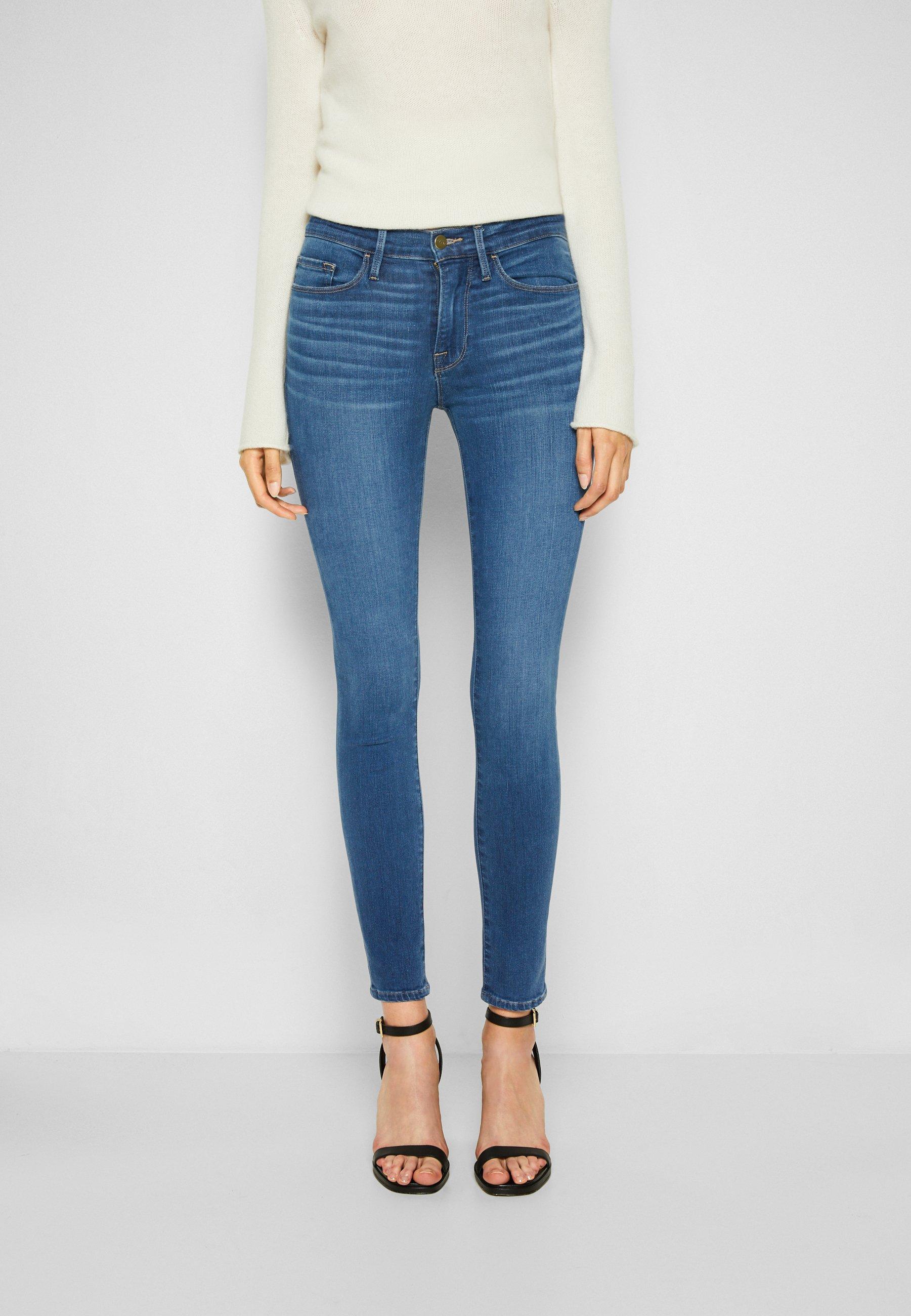 Damen LE SKINNY DE JEANNE CROP - Jeans Skinny Fit - decades blue