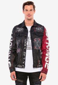 Cipo & Baxx - MIT NIETEN - Denim jacket - black - 0