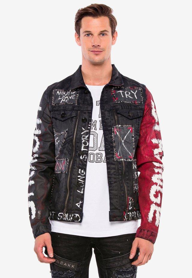 MIT NIETEN - Denim jacket - black