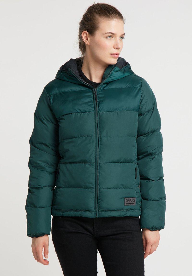 PYUA - Ski jacket - dark moss green