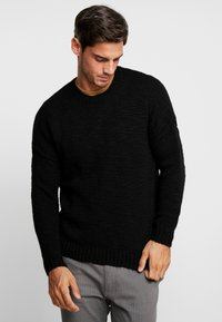 Be Edgy - WILFORD - Sweter - black - 0