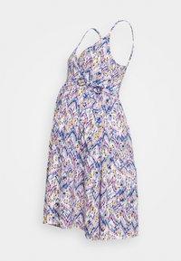 MAMALICIOUS - MLAGNES TESS ABK DRESS - Vestido ligero - snow white/fragrant lilac - 0