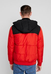 Only & Sons - ONSBOSTON QUILTED BLOCK HOOD - Chaqueta de entretiempo - pompeian red - 2