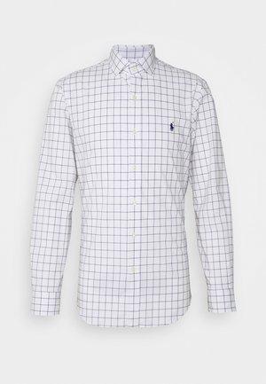 STRETCH SLIM FIT - Shirt - white/blue