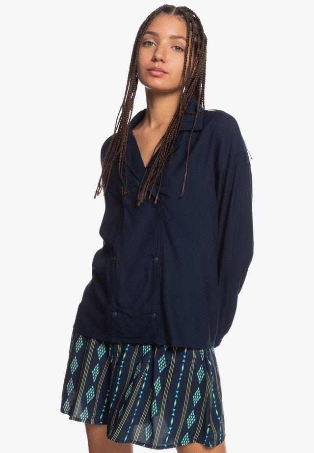NOMADIC SESSION - Button-down blouse - navy blazer
