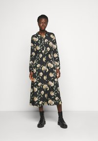 PIECES Tall - PCGYLLIAN MIDI DRESS TALL - Day dress - black/big flower - 0