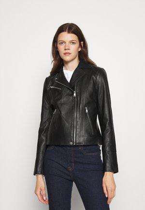 MOTO JACKET - Leather jacket - black