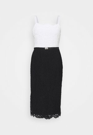 DERBY - Cocktail dress / Party dress - black/white