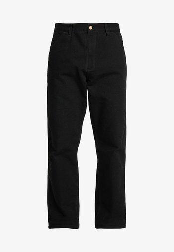 DEARBORN SINGLE KNEE PANT - Pantalon classique - black rinsed