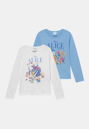 DISNEY ALICE IN WONDERLAND KID 2 PACK - Long sleeved top - light blue/off-white