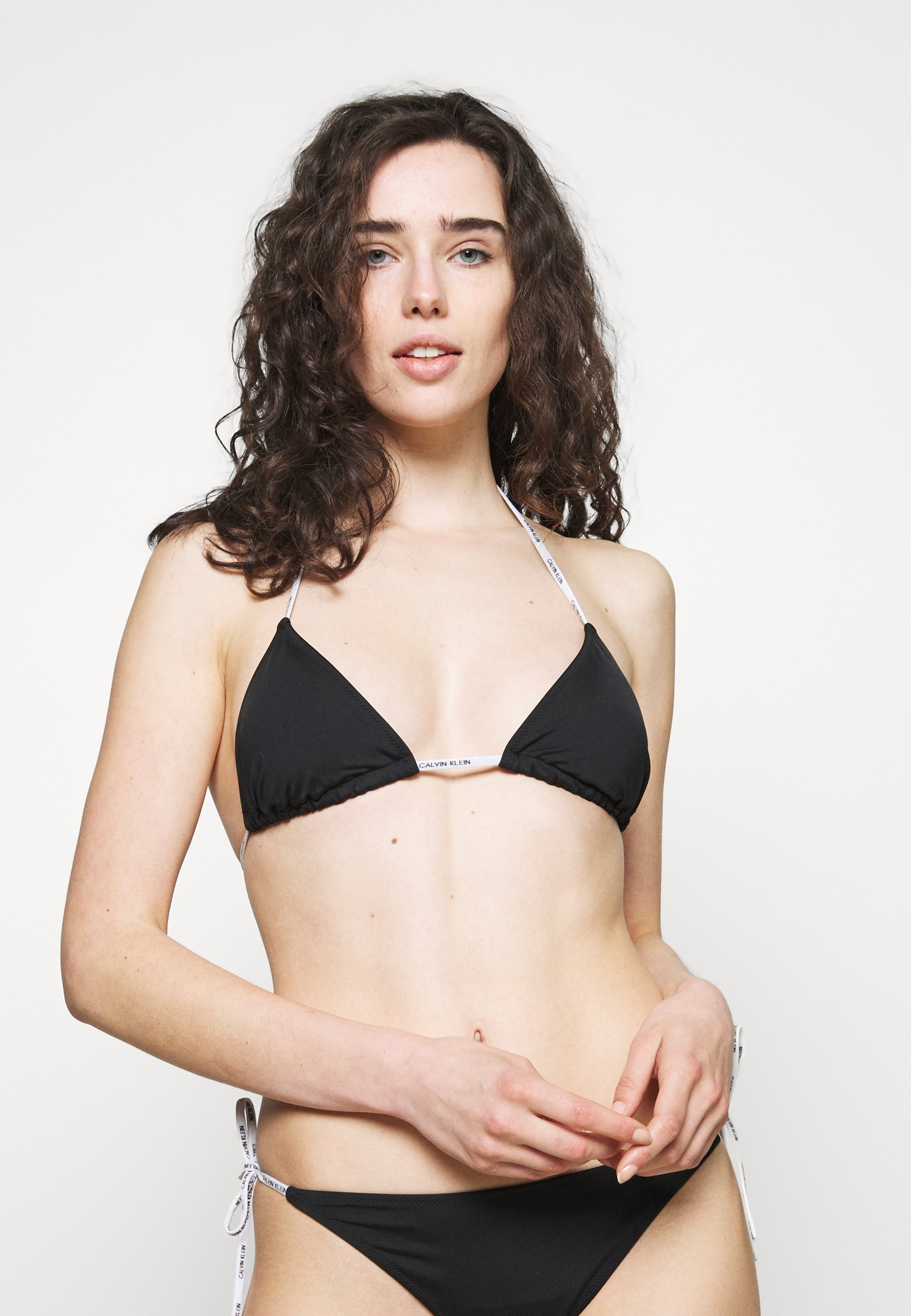 Women CORE LOGO TIES LOGO TIES TRIANGLE - Bikini top