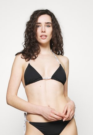 CORE LOGO TIES LOGO TIES TRIANGLE - Bikini top - black