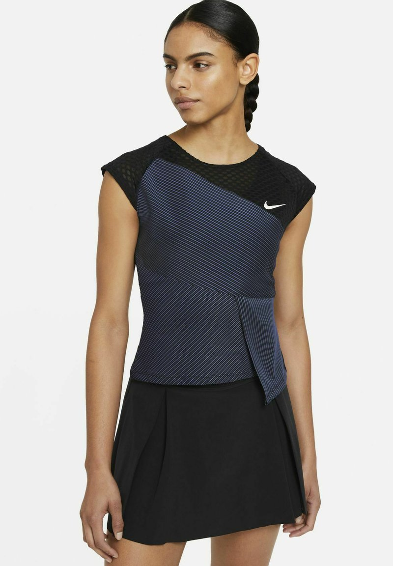Nike Performance - COURT DRI-FIT ADV SLAM TENNISOBERTEIL - Top - black/white