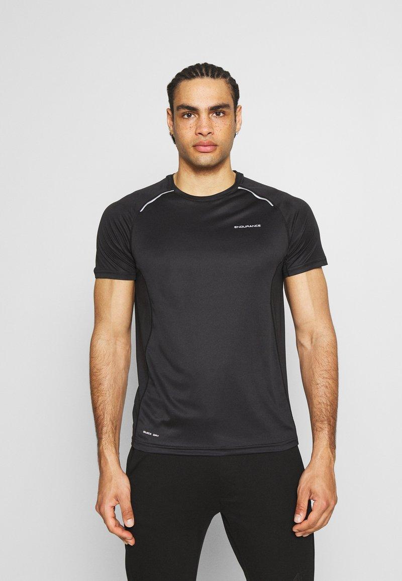 Endurance - LASSE TEE - T-shirt imprimé - black
