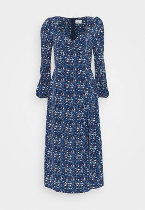 LADIES DRESS FLORAL - Denní šaty - navy blue/orange