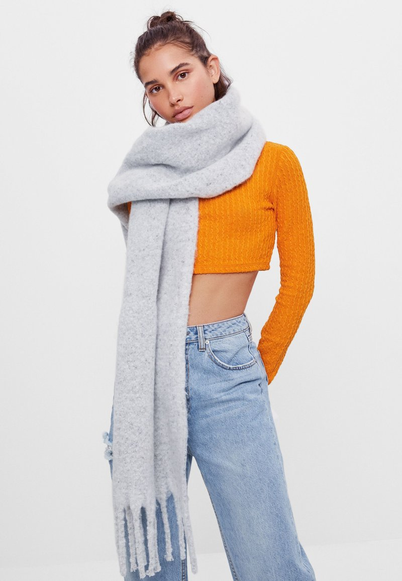 Bershka - Scarf - light grey