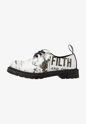 1461 SEX PISTOLS - Šněrovací boty - white