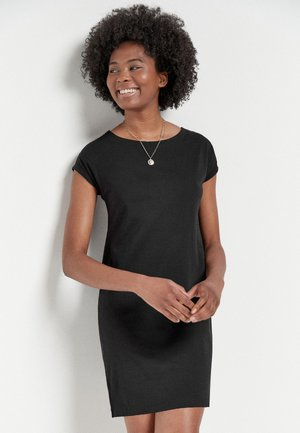 MORRIS & CO. AT NEXT RELAXED CAPPED SLEEVE TUNIC DRESS - Jersey dress - black