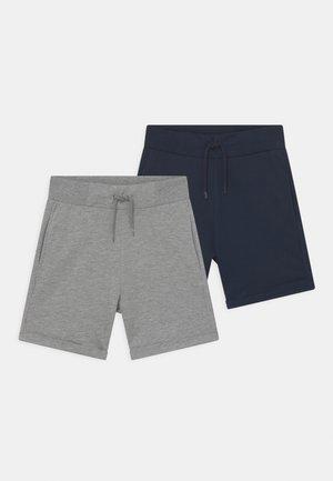 NKMJAN 2 PACK - Shorts - grey melange/dark sapphire