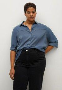 Violeta by Mango - Button-down blouse - blau - 0