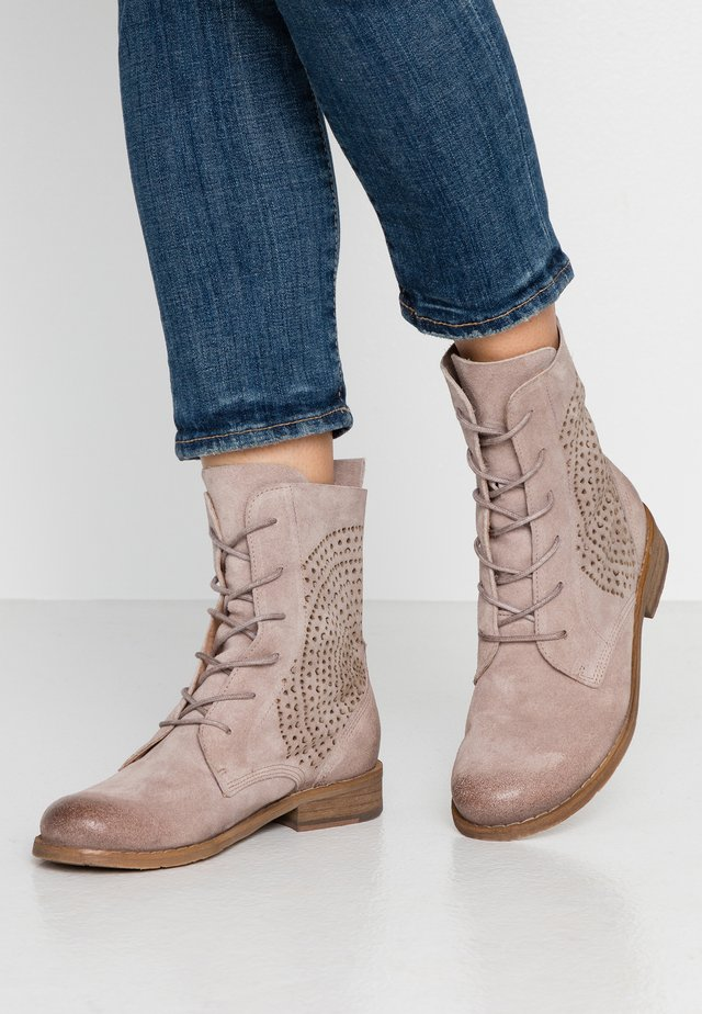 BEJA - Lace-up ankle boots - taupe