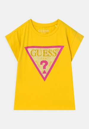 JUNIOR MIDI - T-shirt print - summer yellow