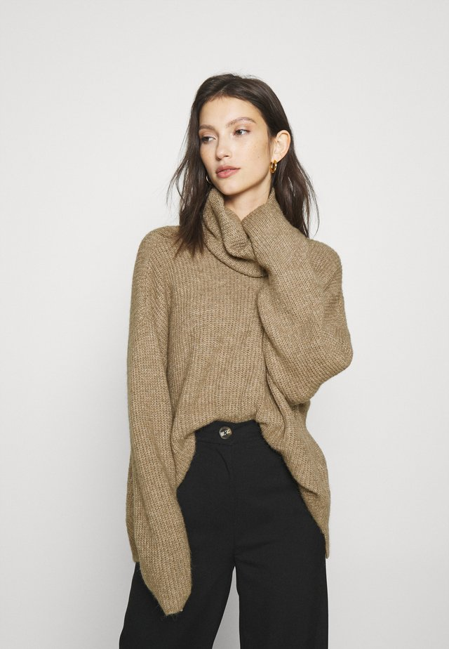VMDAISY COWLNECK - Maglione - sepia tint/melange