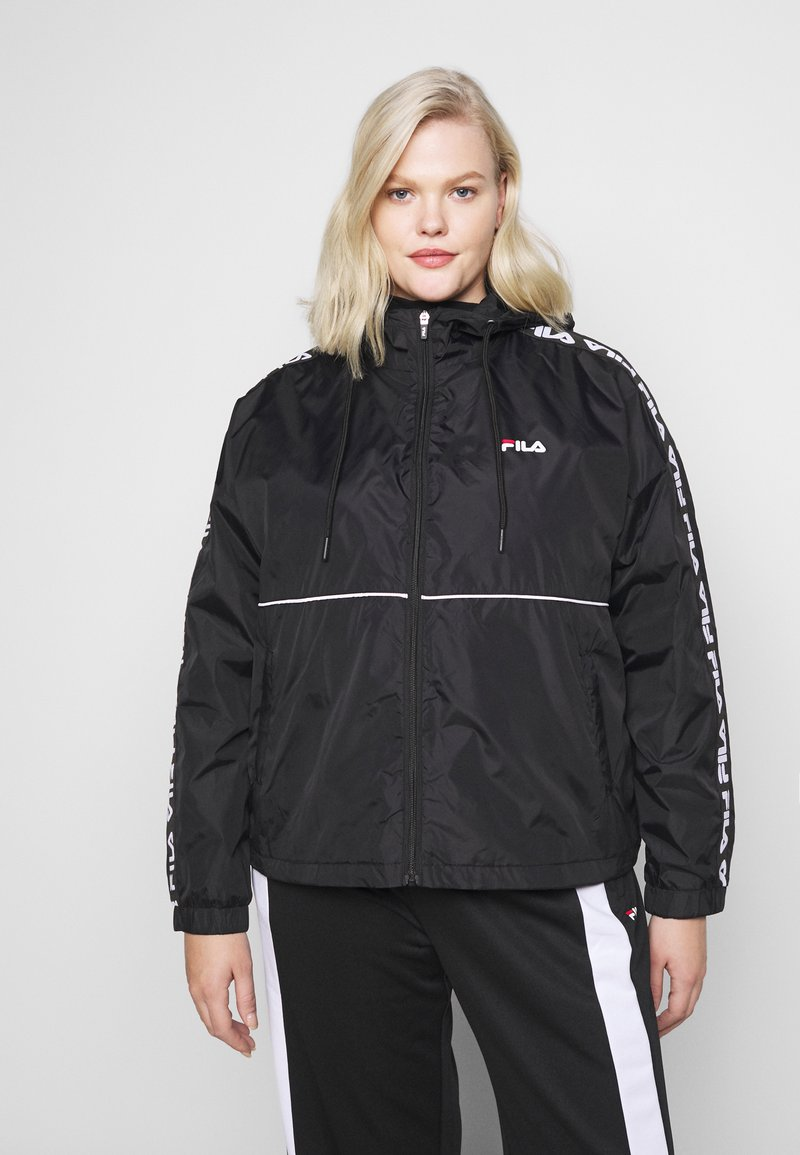 Fila Plus - TATTUM WIND JACKET - Kevyt takki - black/bright white