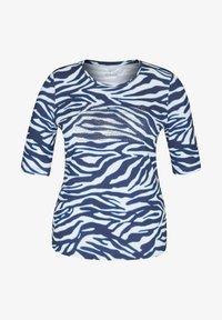 Rabe 1920 - MIT ANIMAL-PRINT UND STRASS-STEINEN - Print T-shirt - dunkelblau - 0