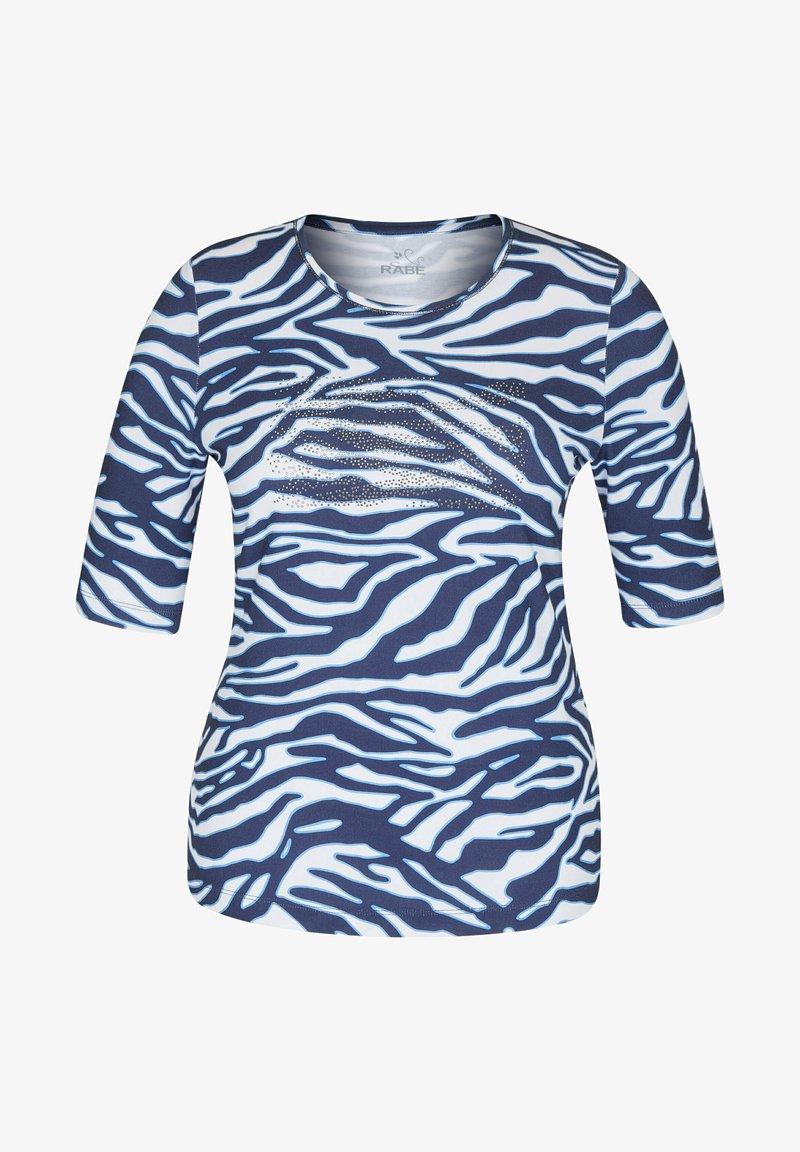Rabe 1920 - MIT ANIMAL-PRINT UND STRASS-STEINEN - Print T-shirt - dunkelblau