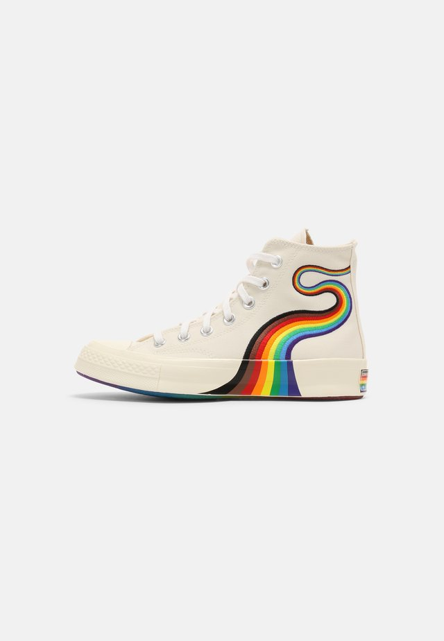 CHUCK 70 PRIDE UNISEX - Sneakers high - egret/multi/white