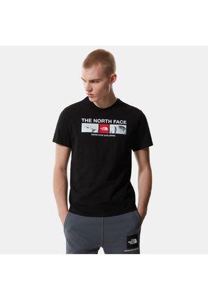 T-shirt z nadrukiem - tnf black