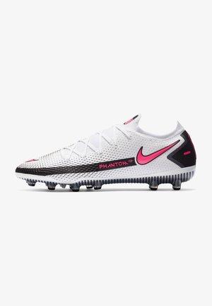 Fotbollsskor fasta dobbar - white / pink blast / black