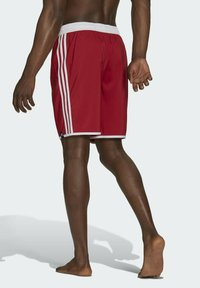 adidas Performance - 3-STRIPES CLASSICS CL SWIM SPORTS MUST HAVES PRIMEGREEN SHORTS - Swimming shorts - red - 1