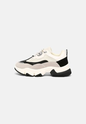 ROUNDED SOLE CHUNKY TRAINERS - Trainers - creme/black