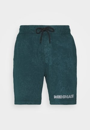 ACID WASH - Shorts - teal