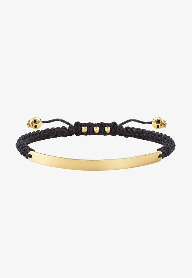 SCHWARZ TOTENKOPF - Bracelet - yellowgold-colored/black