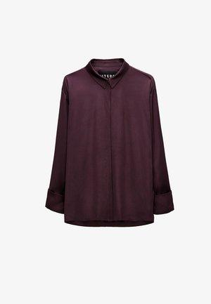 Button-down blouse - bordeaux