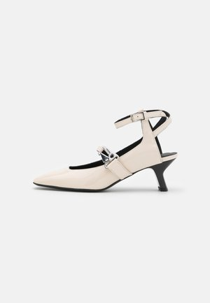 SCARPA DONNA WOMAN`S SHOES - Classic heels - white