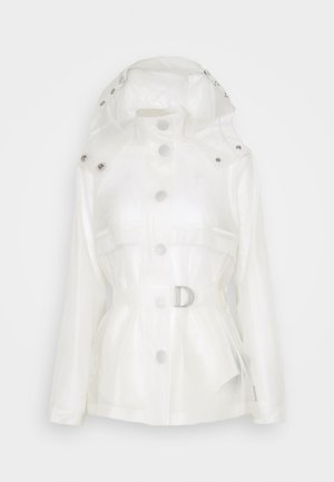 WOMENS REFINED PART PLEAT JACKET - Impermeable - white