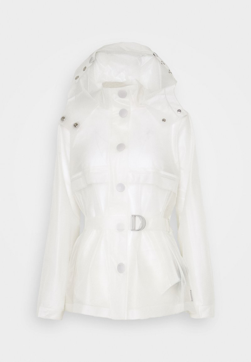 Hunter ORIGINAL - WOMENS REFINED PART PLEAT JACKET - Kurtka przeciwdeszczowa - white