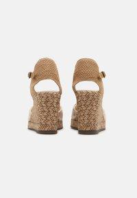Gaimo - GLOBAL TERRA TINTE - Sandały na koturnie - eucalipto - 3