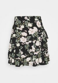 VMSAGA FRILL SKIRT  - A-line skirt - black/fannie