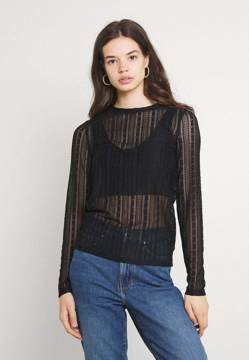 Vila - VIANAMIA - Long sleeved top - black