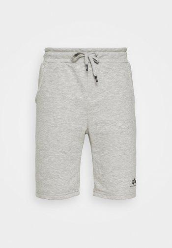 BASIC SMALL LOGO - Shortsit - grey heather