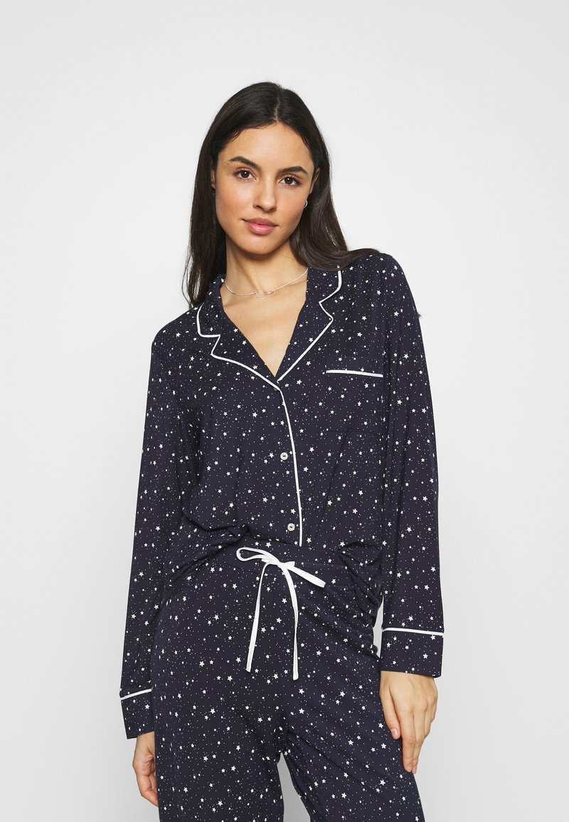 GAP - PIPING - Pyjama top - navy