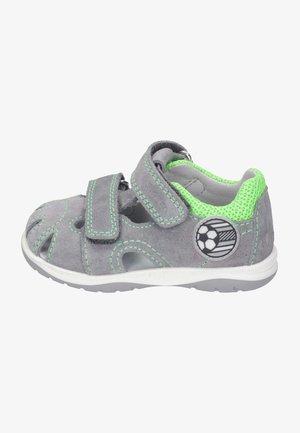 Walking sandals - stone/neon green