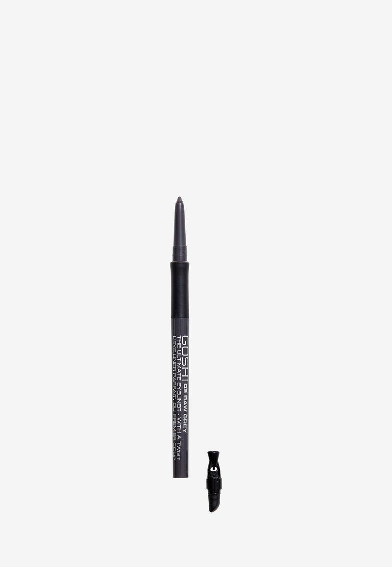 Gosh Copenhagen - THE ULTIMATE EYELINER WITH A TWIST - Eyeliner - 02 raw grey